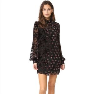 New WAYF *V neck* Bennet Velvet Shift Mini Dress